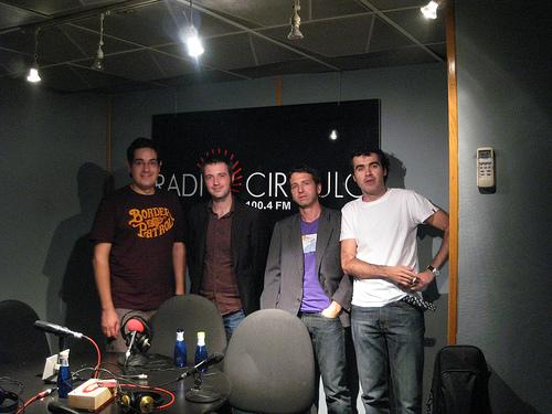 Con Juan Ferrari y Jose Jonston