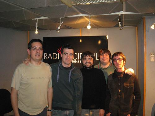 Con Sergio, Tomás y Víctor de Fortune Tellers