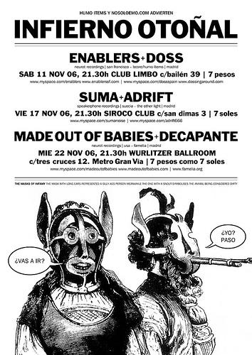 Conciertos Humo Items_nosoloemo.com en Noviembre