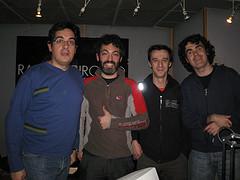 Con Goyo y Dani de Zinc