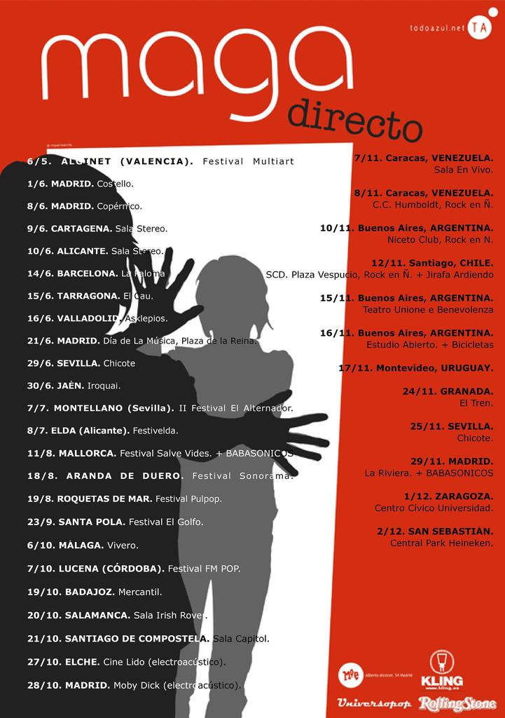 Gira de otoño 2006 de Maga por España y Latinoamérica
