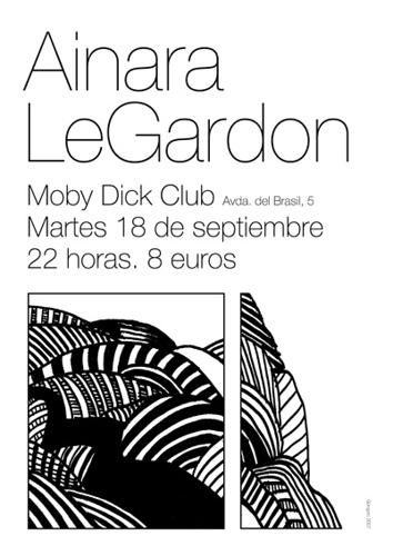 Ainara Legardon en Moby Dick Club (Madrid)18 Septiembre 2007 - 8 euros
